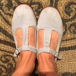 light blue t strap mary jane shoes